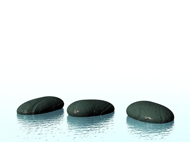 石で禅を表現する